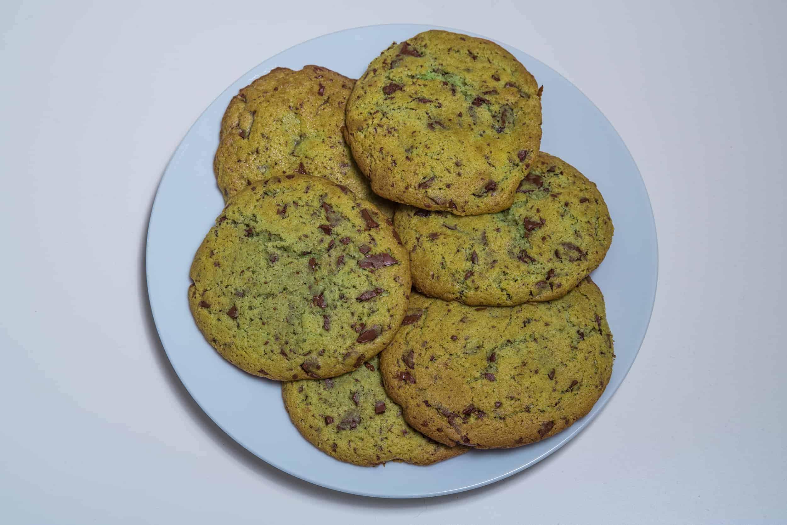 Das fertige Schokocookies mit Pfefferminze Rezept