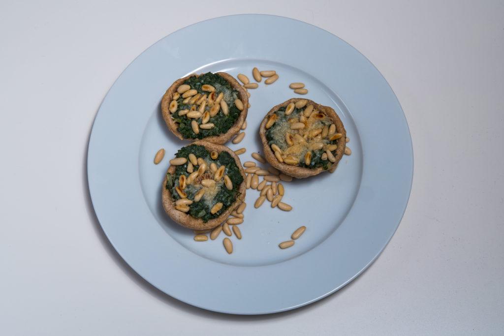 Das fertige Spinat Tartelettes Rezept