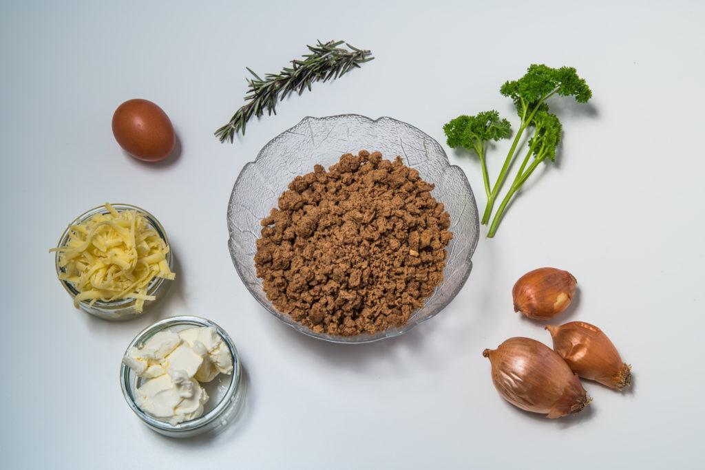 Alle Zutaten für das Vegetarische Burger mit Quorn Rezept