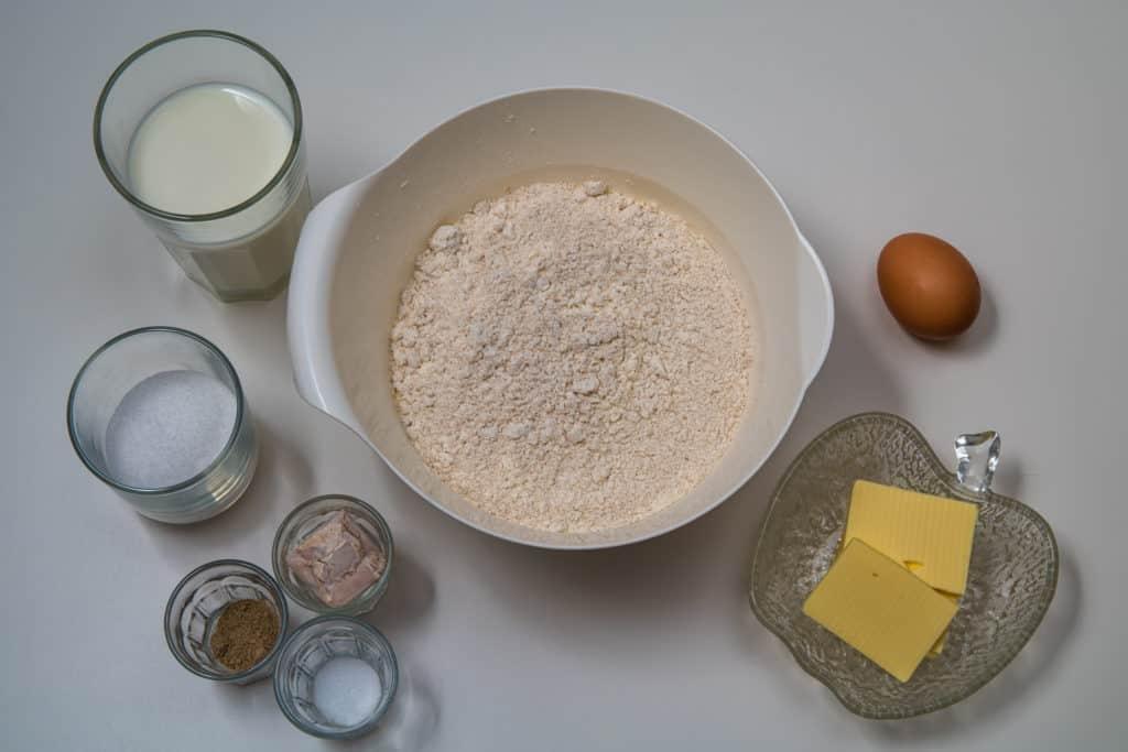 Zutaten für den Teig des Finnischer Bostonkakku Rezepts