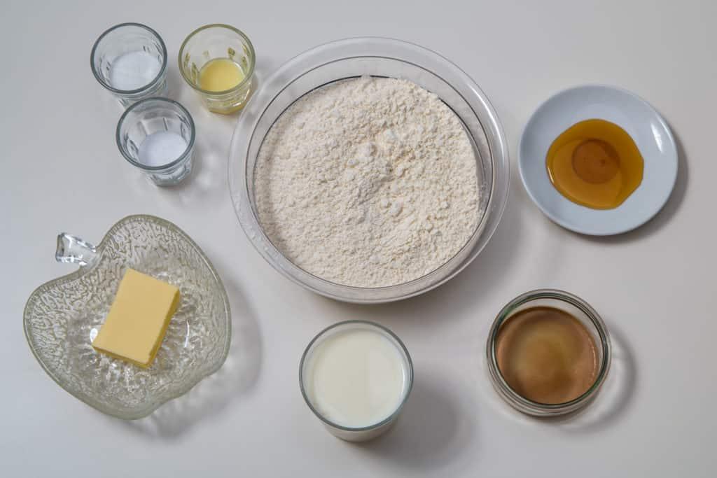 Zutaten für das Japanisches Hokkaido Milchbrot Rezept