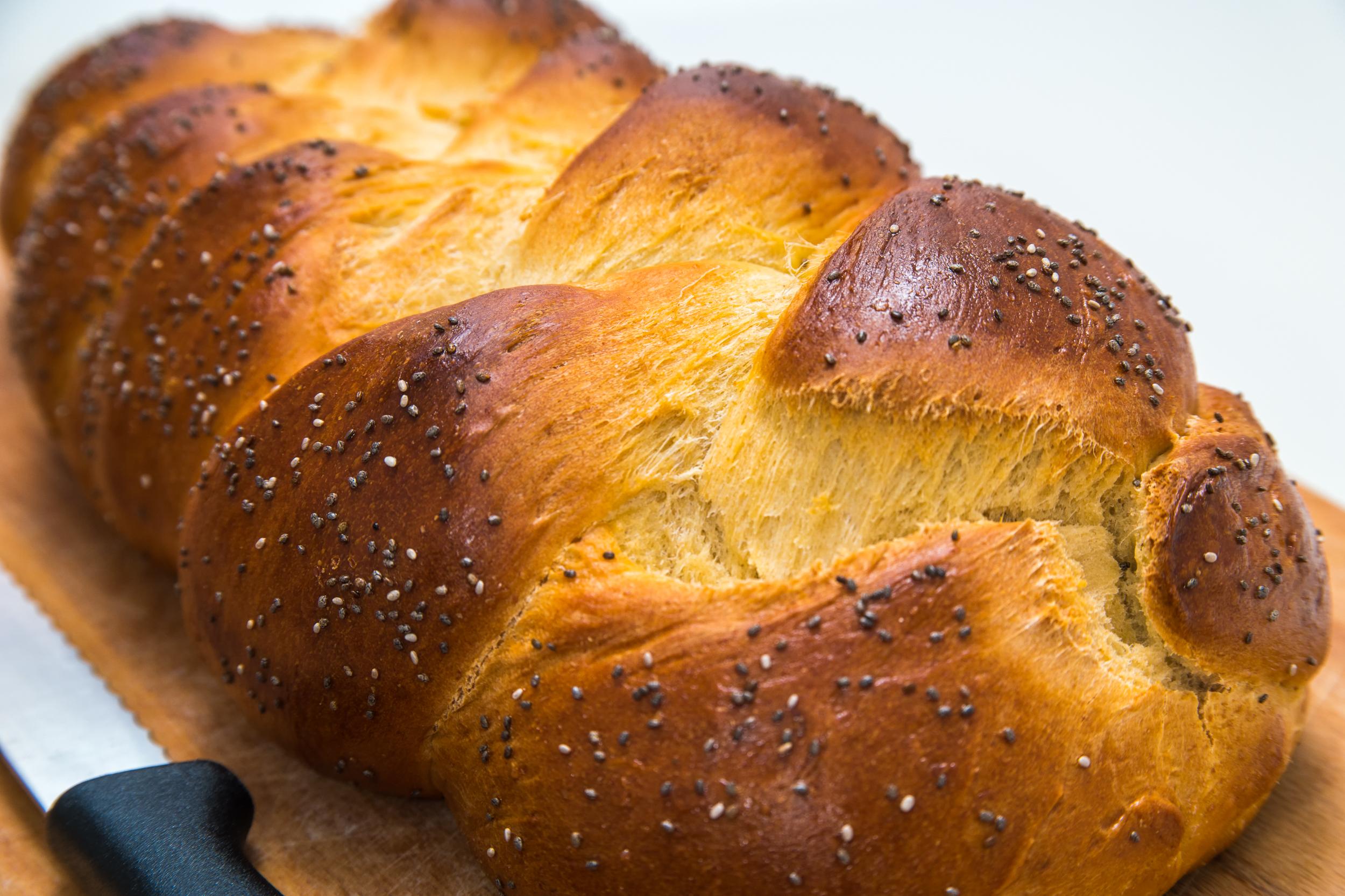 Ein selbst gebackenes jüdisches Challa