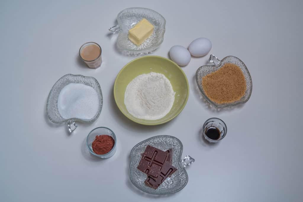 Zutaten für das Baileys Käsekuchen Brownies Rezept