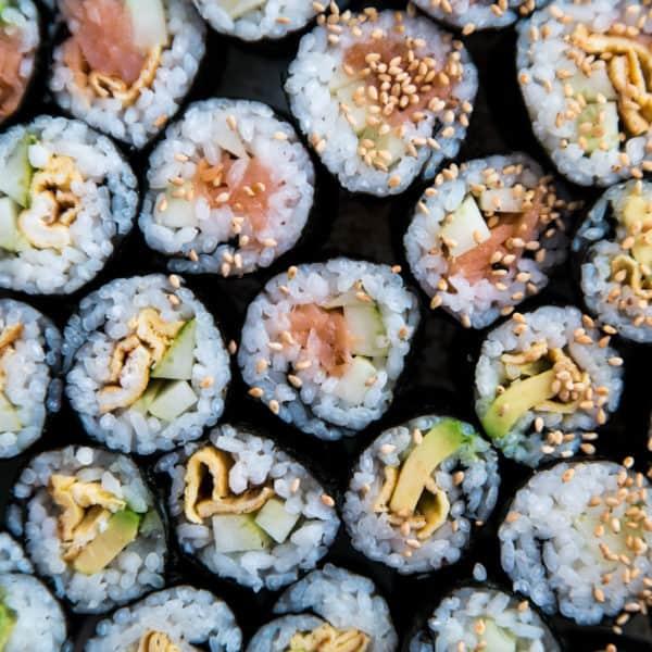 Das Endresultat des Maki-Sushi Rezepts