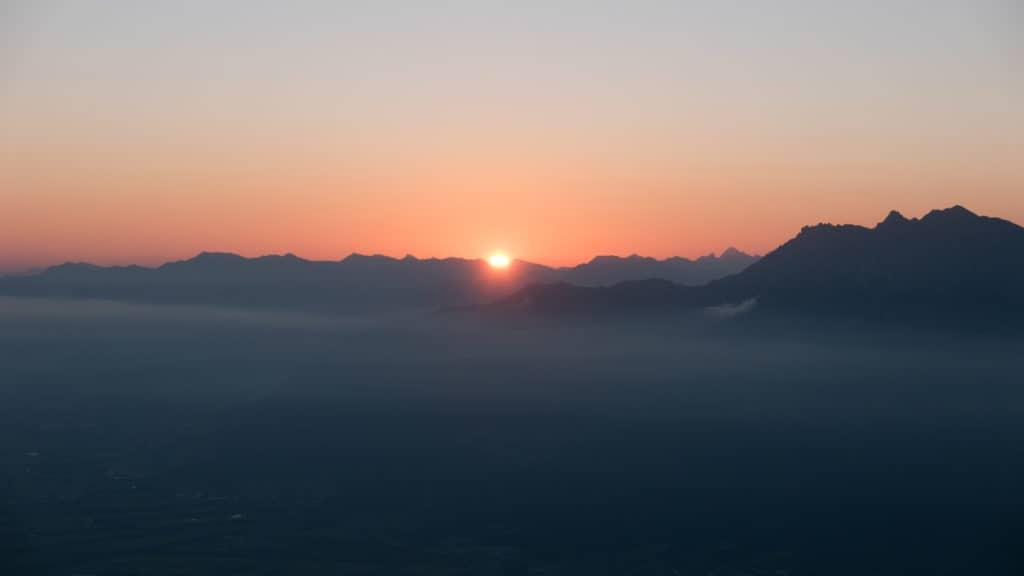 Sonnenaufgang auf der Margelchopf Wanderung