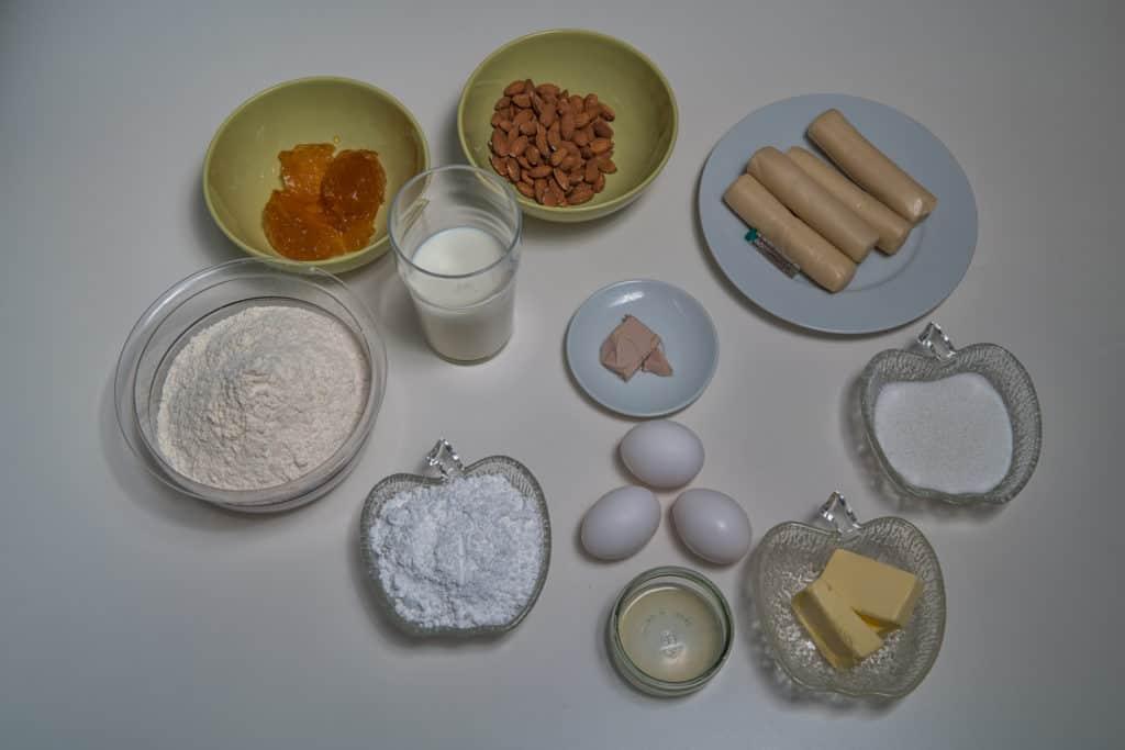 Alle Zutaten für das Süsser Osterzopf Rezept