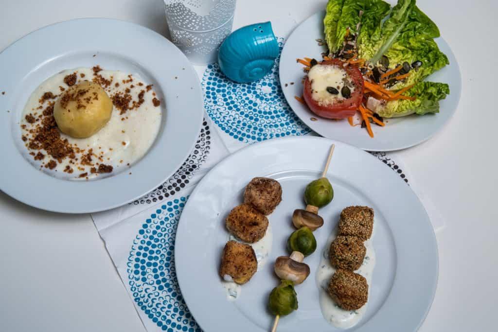 Alle Zutaten für das Vegetarische Bällchen mit Linsen und Feta Rezept