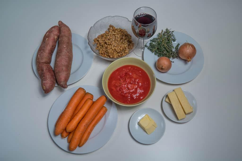 Zutaten für das Vegetarischer Shepherd's Pie Rezept