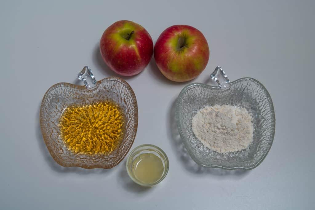 Zutaten für die Füllung des Apfel und Gorgonzola Törtchen Rezepts
