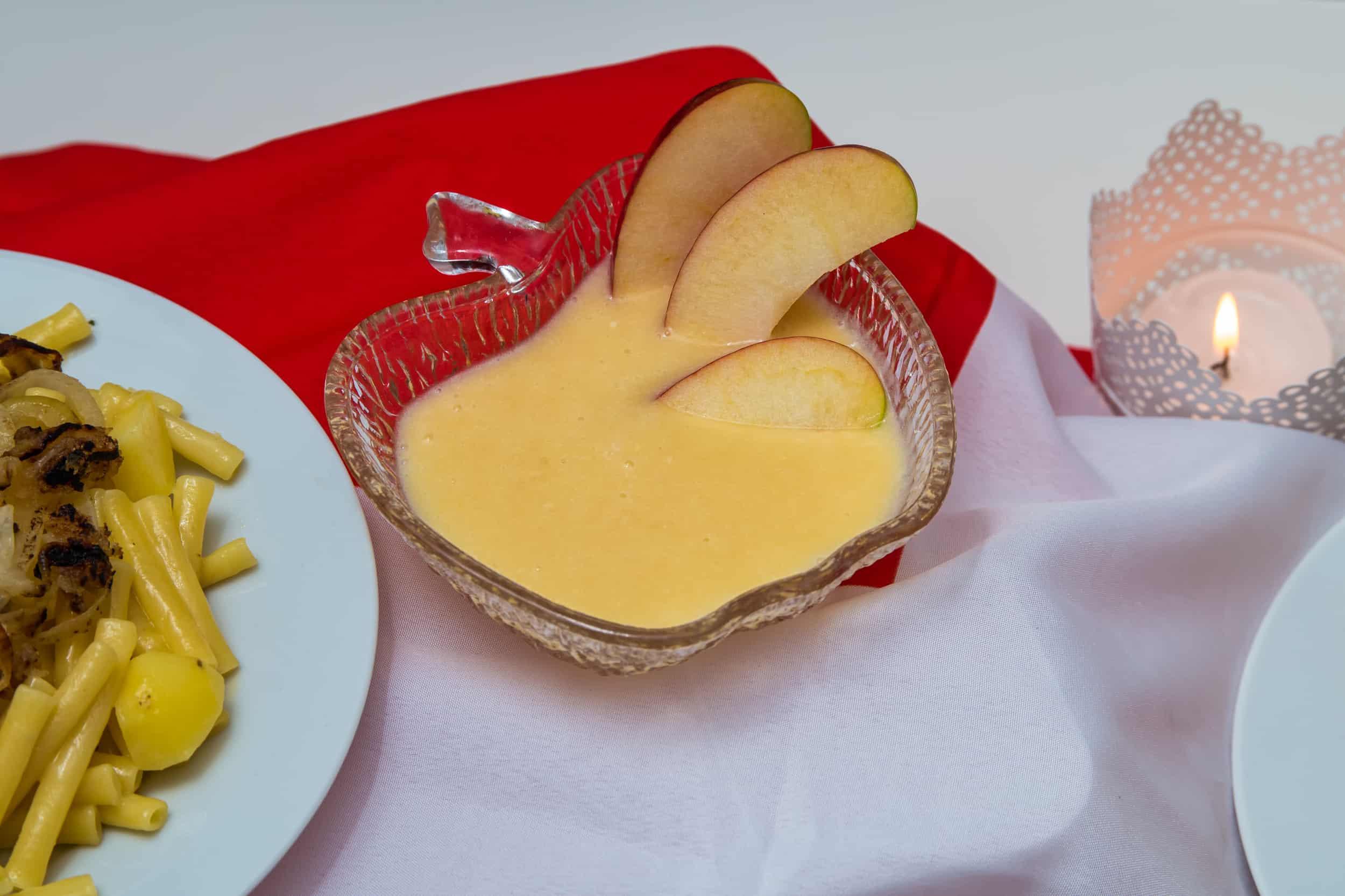 Das fertige Apfelcrème Rezept