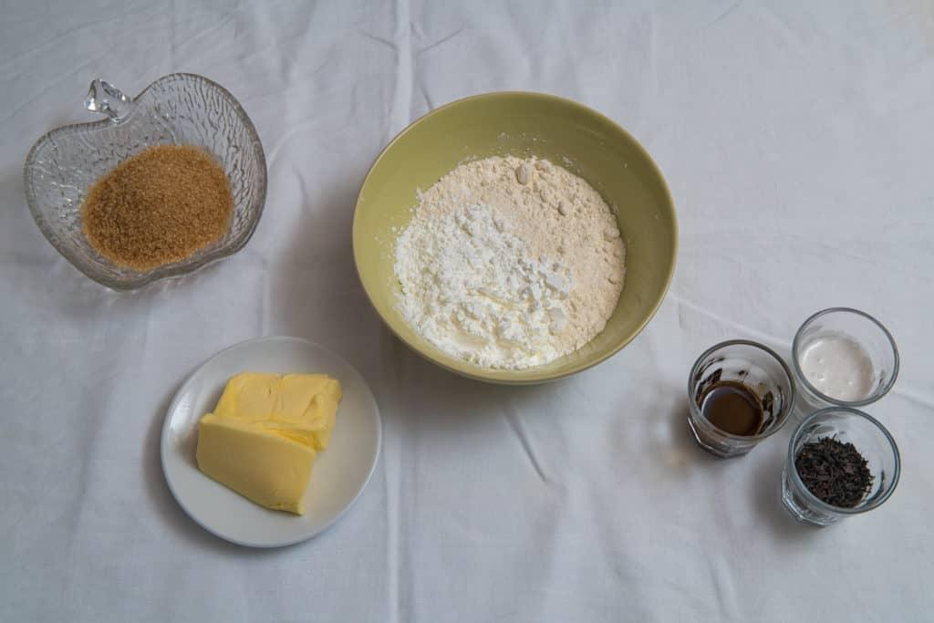 Zutaten für das Earl Grey Kekse Rezept