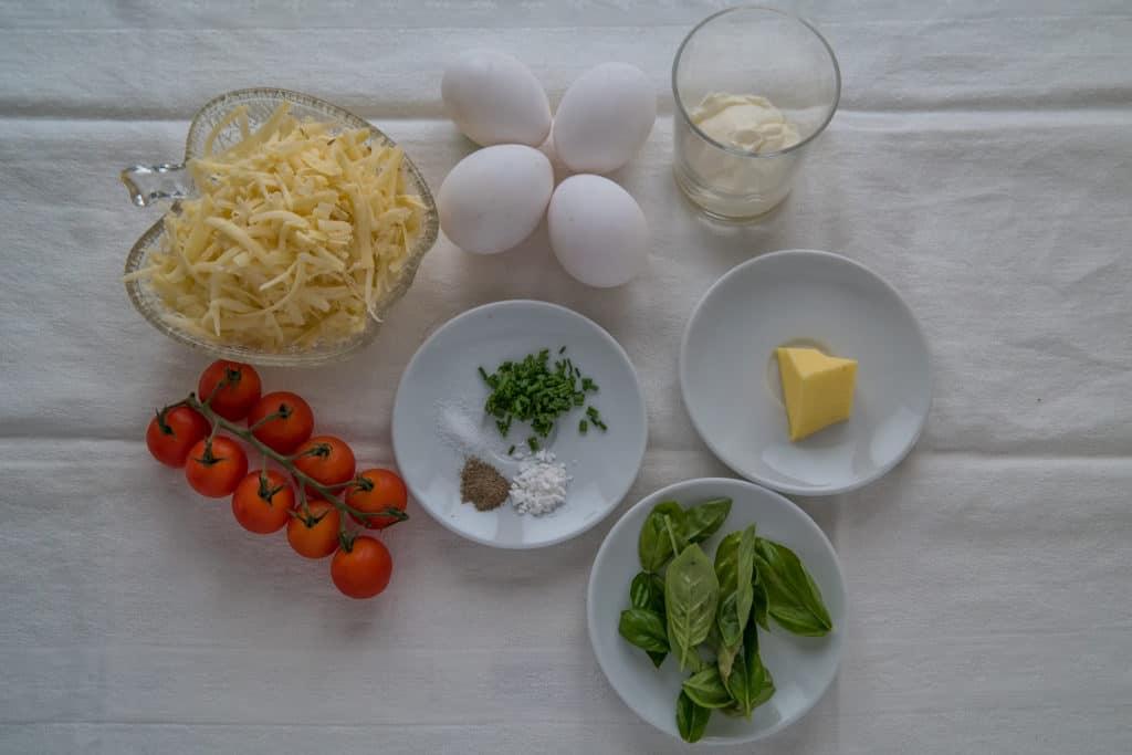 Zutaten für das Gebackene Omelette mit Tomaten Rezept