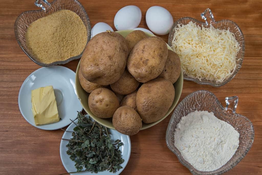 Zutaten für das Kartoffelkroketten mit Oregano Rezept