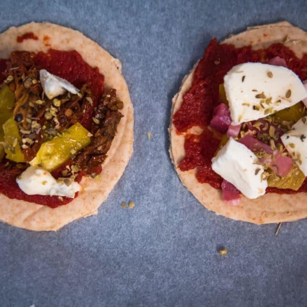 Zubereitung des Pizza Bites Rezepts