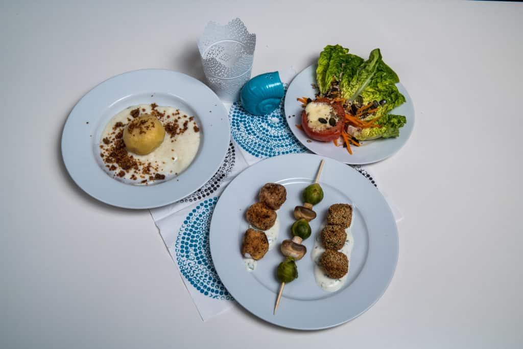 Das fertige vegetarische Menü