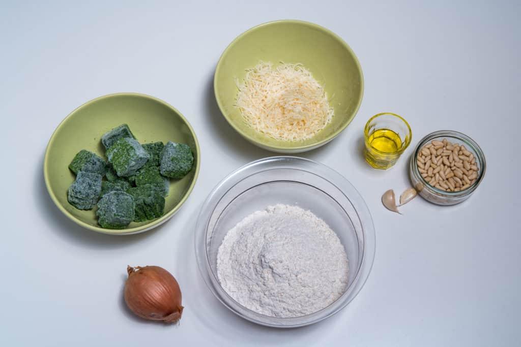 Zutaten für das Spinat Tartelettes Rezept