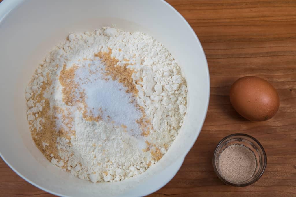 Sämtliche Zutaten für das Bagels Rezept