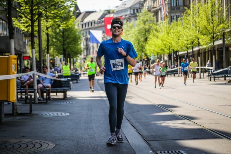 Liam läuft den Zürich Marathon 2018