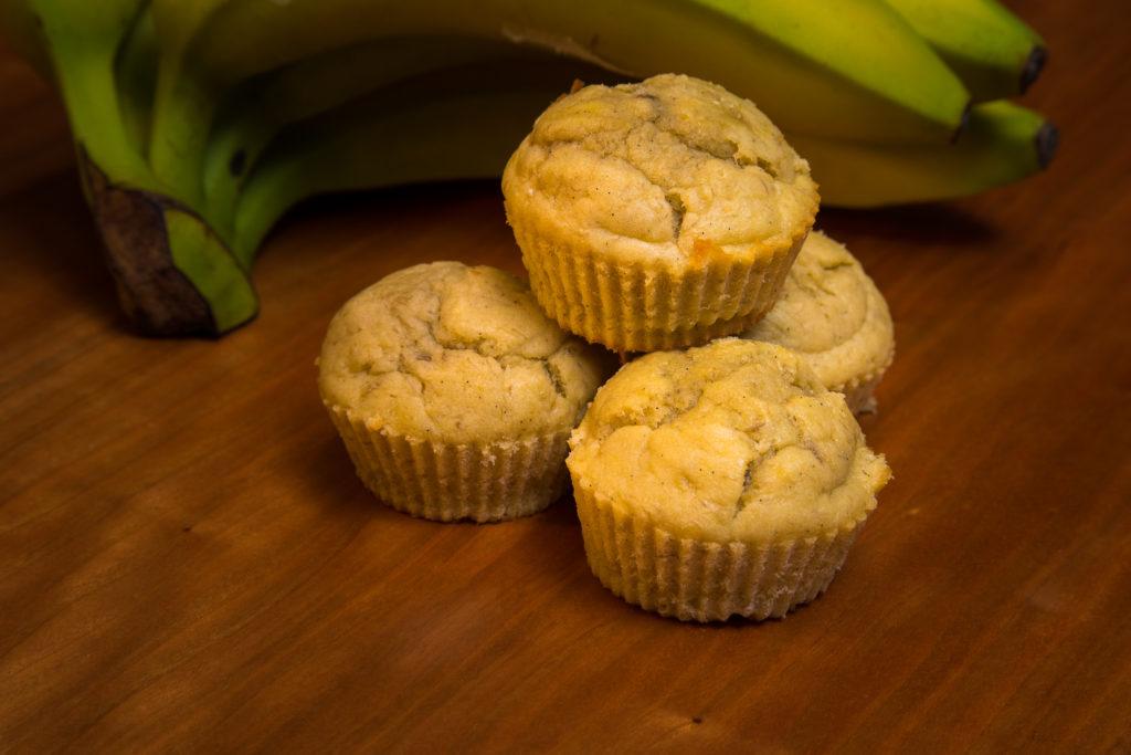 Drei zuckerfreie Bananenmuffins für Babies